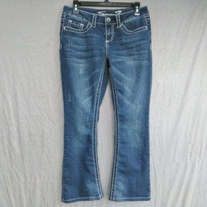 Seven7 BootCut Jeans Factory Distressed